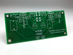 How to Build an Audio Amplifier With the TDA2003 - Stereo PCB Top