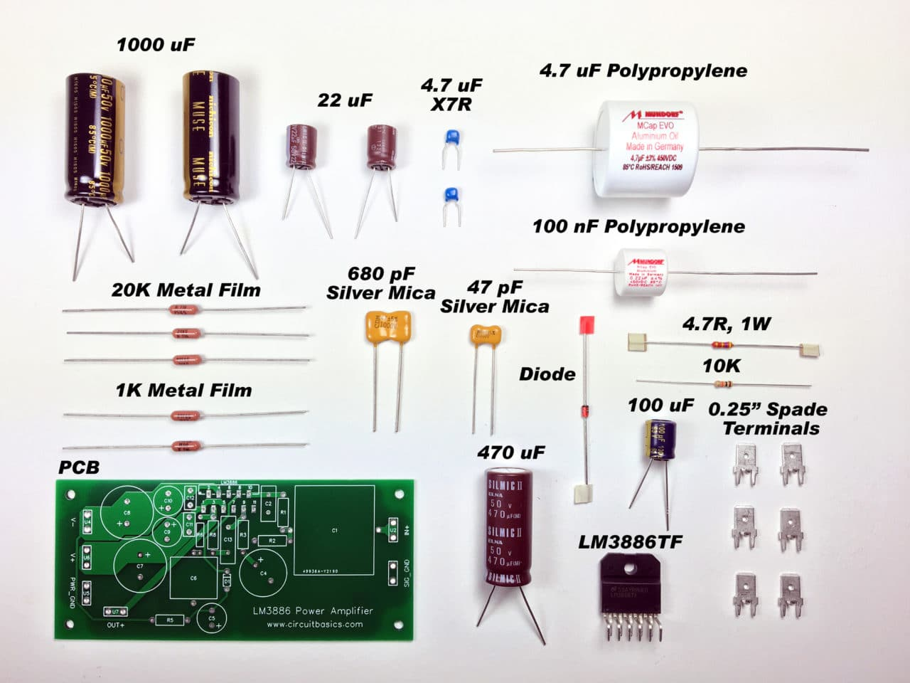 A Complete Guide To Design And Build Hi Fi Lm3886 Amplifier 12 Volt 6 Resistor Wiring Diagram The Total Cost Came About 118 For Both Channels Not Including Chassis Power Supply Parts You Can It Lot Less With Cheaper
