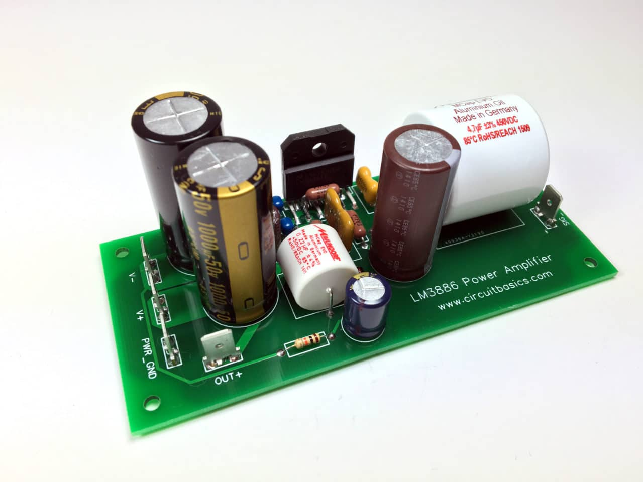 A Complete Guide To Design And Build Hi Fi Lm3886 Amplifier Voltage Across The Individual Components Is Equal That At Power Finding Chassis