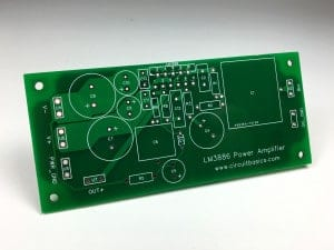 How to Design a Hi-Fi Audio Amplifier With an LM3886 - PCB Top