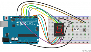 Arduino 7-Segment Display - Rolling Dice