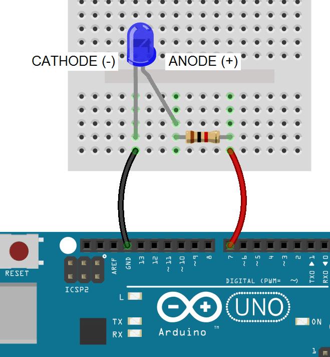 Arduino 7 Segment Display Tutorial - Anode to GPIO