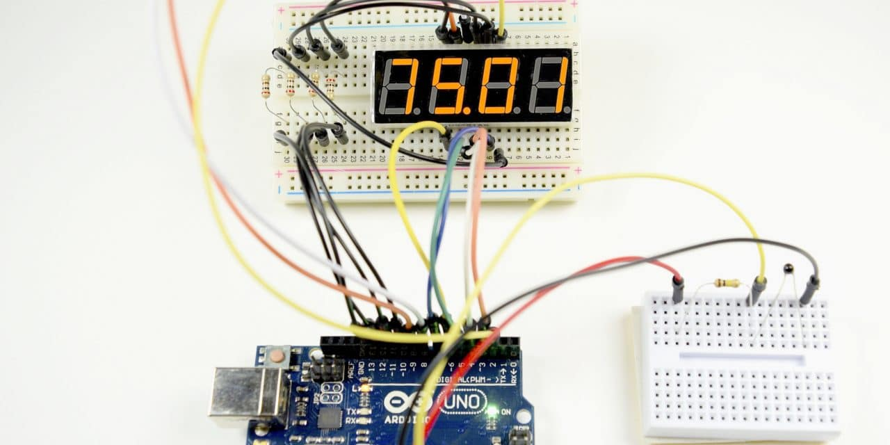 How To Set Up 7 Segment Displays On The Arduino Circuit Basics Digital Count Down Timer Using Pic Microcontroller