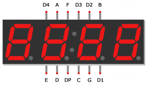 Arduino 7-Segment Tutorial - 4 Digit Display Pin Diagram