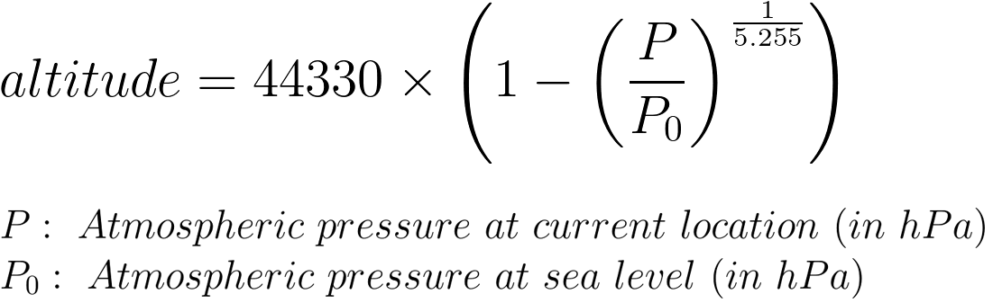 Arduino BMP180 Tutorial - International Barometric Formula