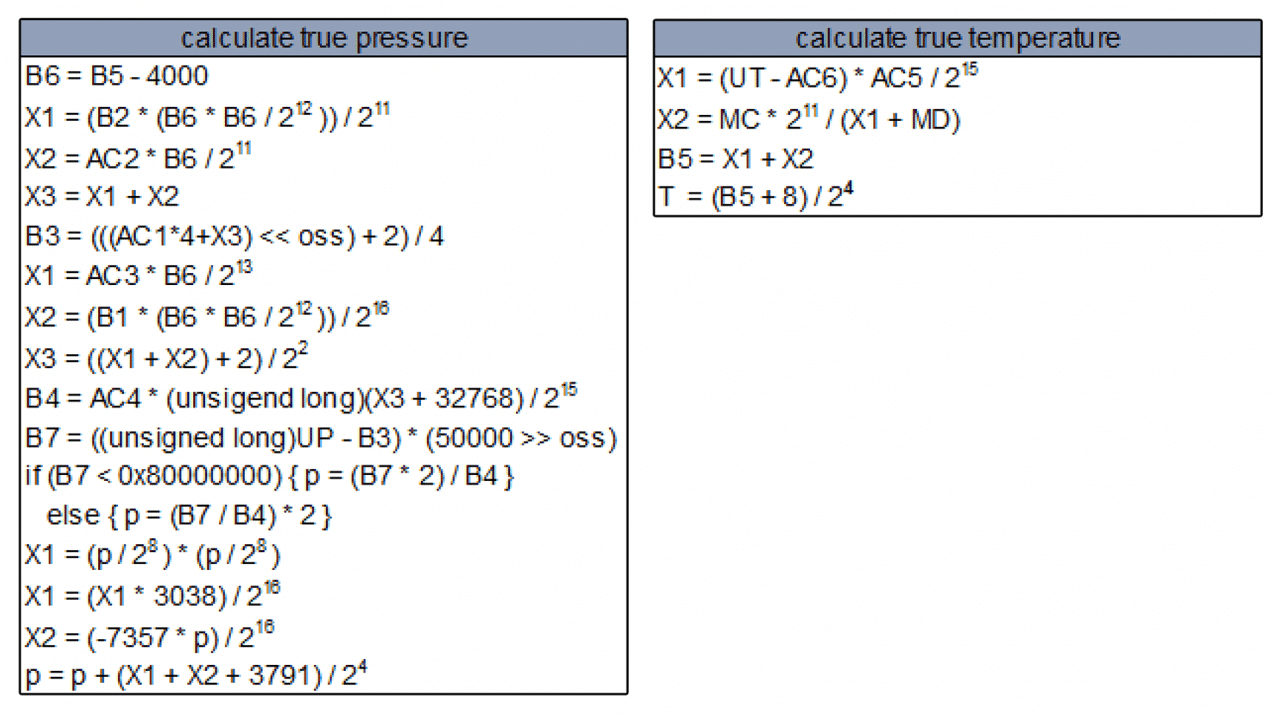 Arduino BMP180 Tutorial - Pressure and Temperature Algorithms