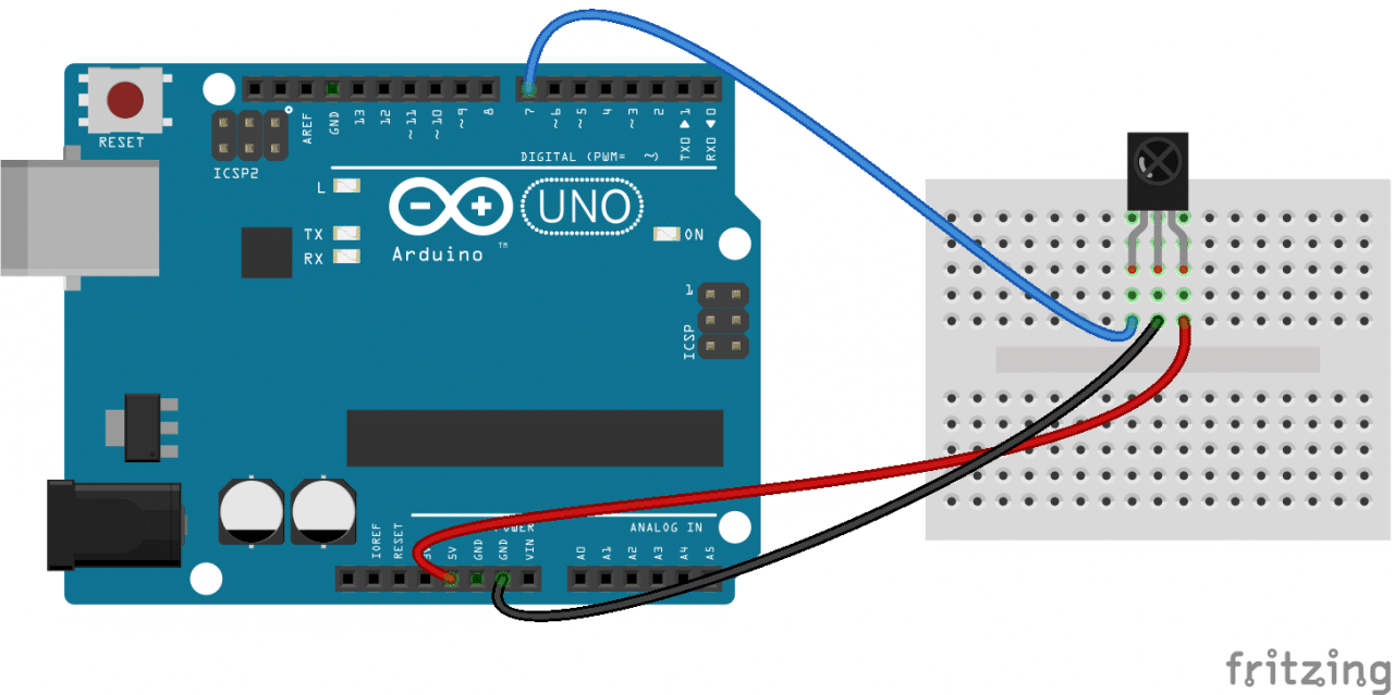 How To Set Up An Ir Remote And Receiver On Arduino Circuit Basics Wiring Diagram Programming The