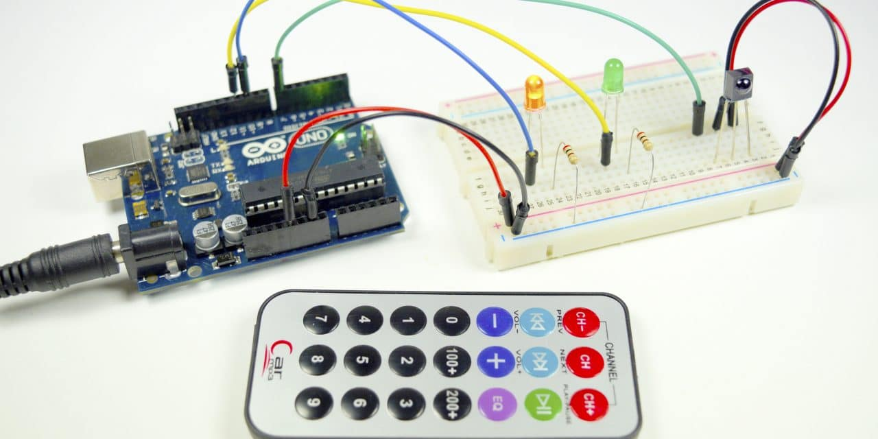 How To Set Up An Ir Remote And Receiver On Arduino Circuit Basics Digital Electronic Projects With