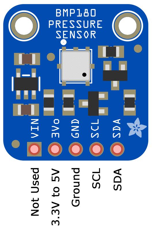 Arduino Pressure Sensor Tutorial - BMP180 Pin Diagram