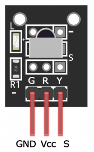 IR Receiver Breakout Board Pinout Diagram
