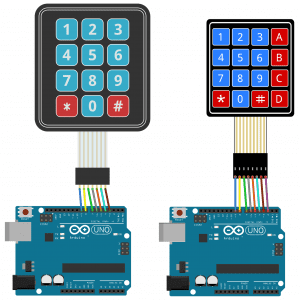 Arduino Keypad Tutorial - 4X4 and 3X4 Keypad Connection Diagram
