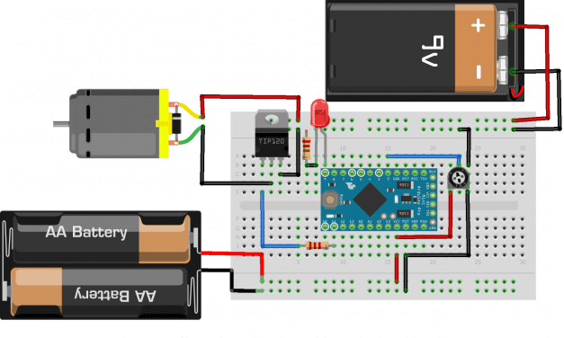 How to Control DC Motors With the TIP120 on an Arduino