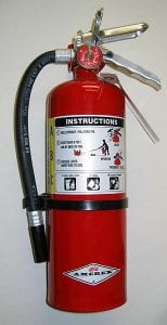 Working with Electronics Safely - Fire Extinguisher