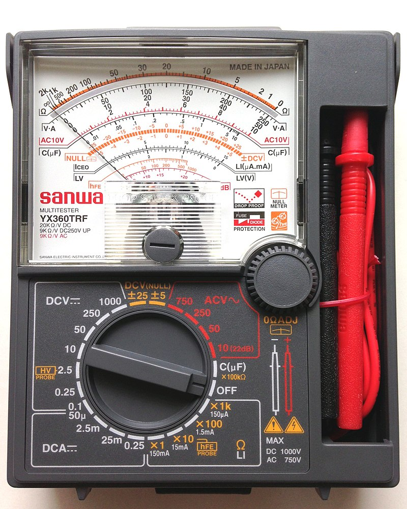 How to Use a Multimeter - Analog Multimeter