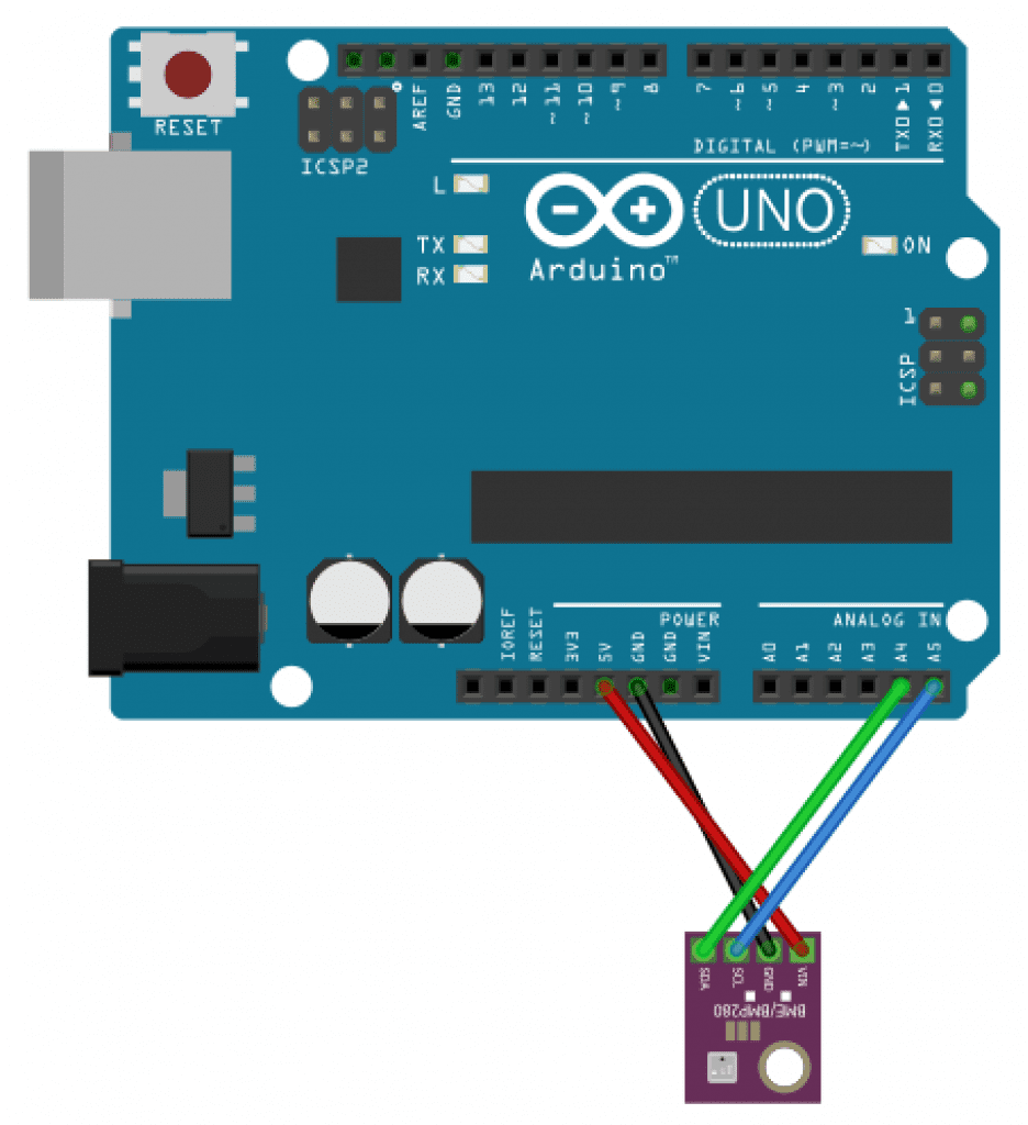 Arduino BMP280 Wiring Diagram