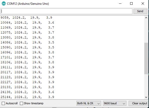 Registrando dados do Arduino em arquivos em um computador 25