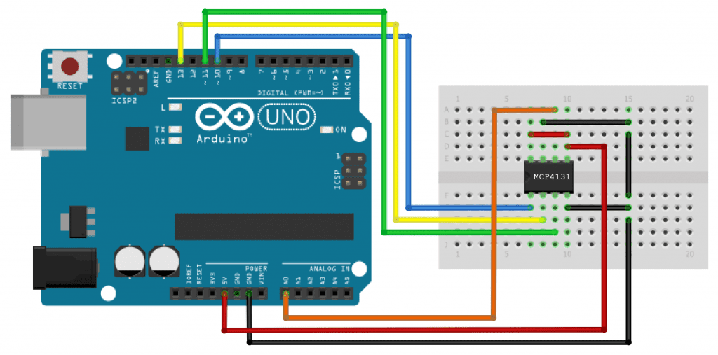 How to Set Up SPI Communication on the Arduino - MCP4131 Wiring Diagram