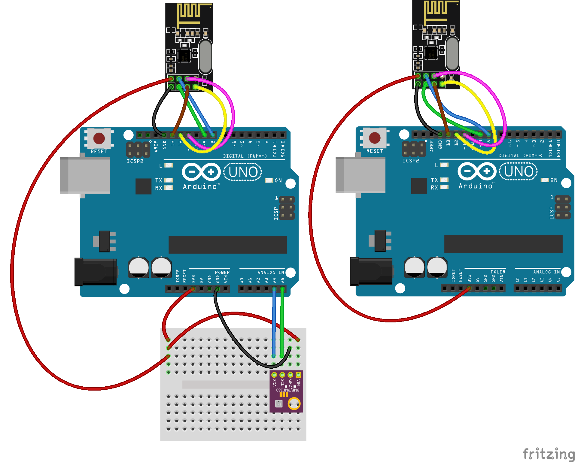 2.4 GHz Wireless Communication Between Two Arduinos