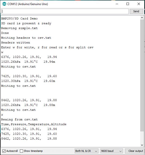 Como gravar dados do Arduino em arquivos em um cartão SD 7
