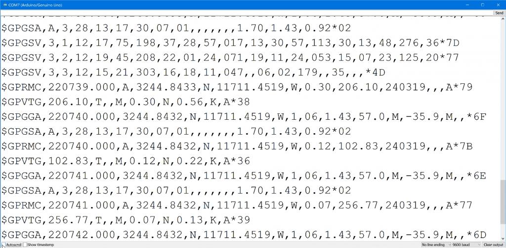 Arduino GPS Sensor NMEA Sentences Output on Serial Monitor.png