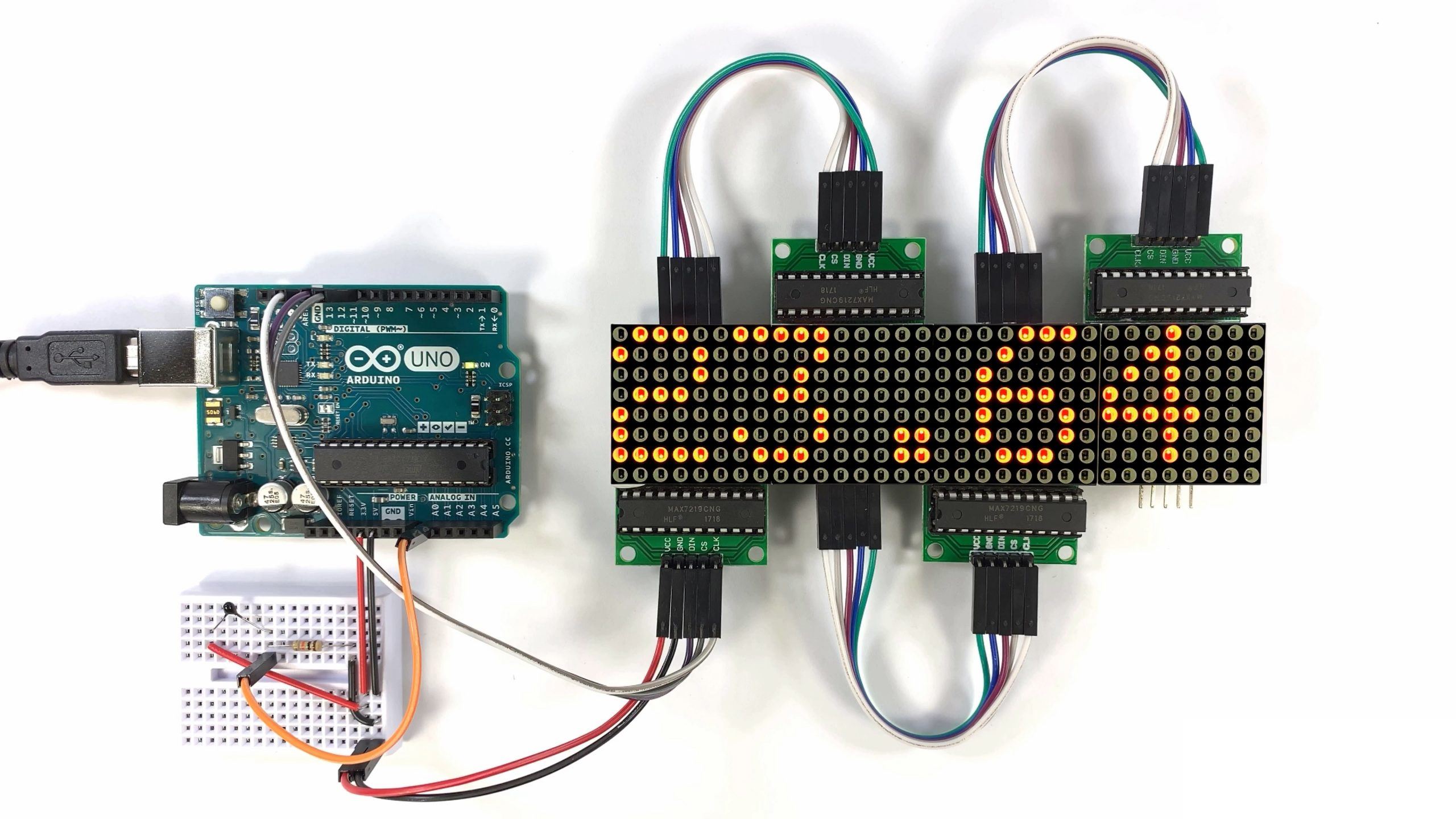 How to Setup an LED Matrix on the Arduino