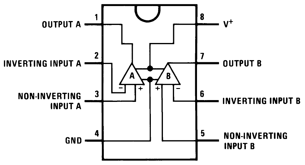 LM358 Pin Diagram From Datasheet.png