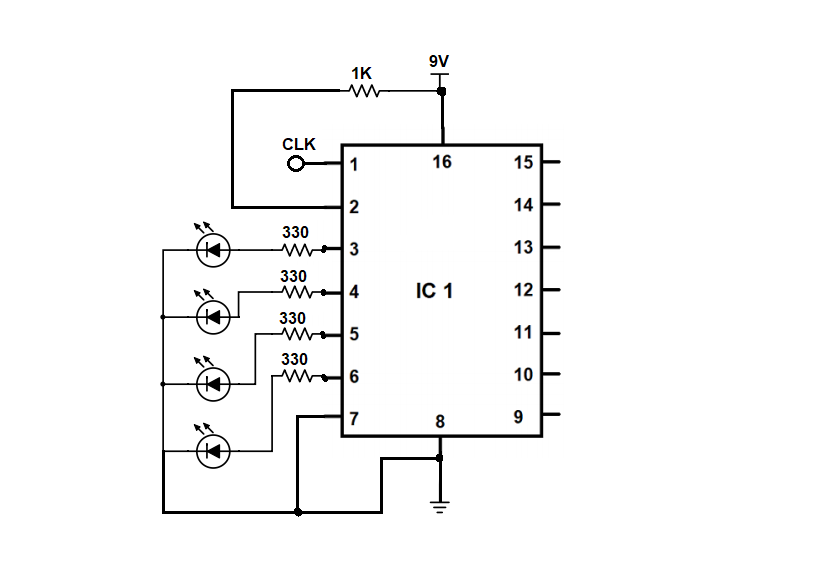 IC 4520 Counter Circuit Example