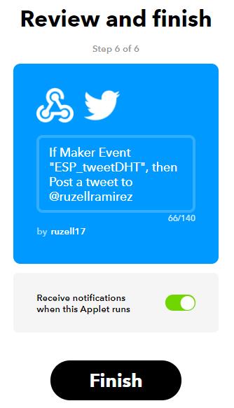 Como enviar tweets com um Arduino 13