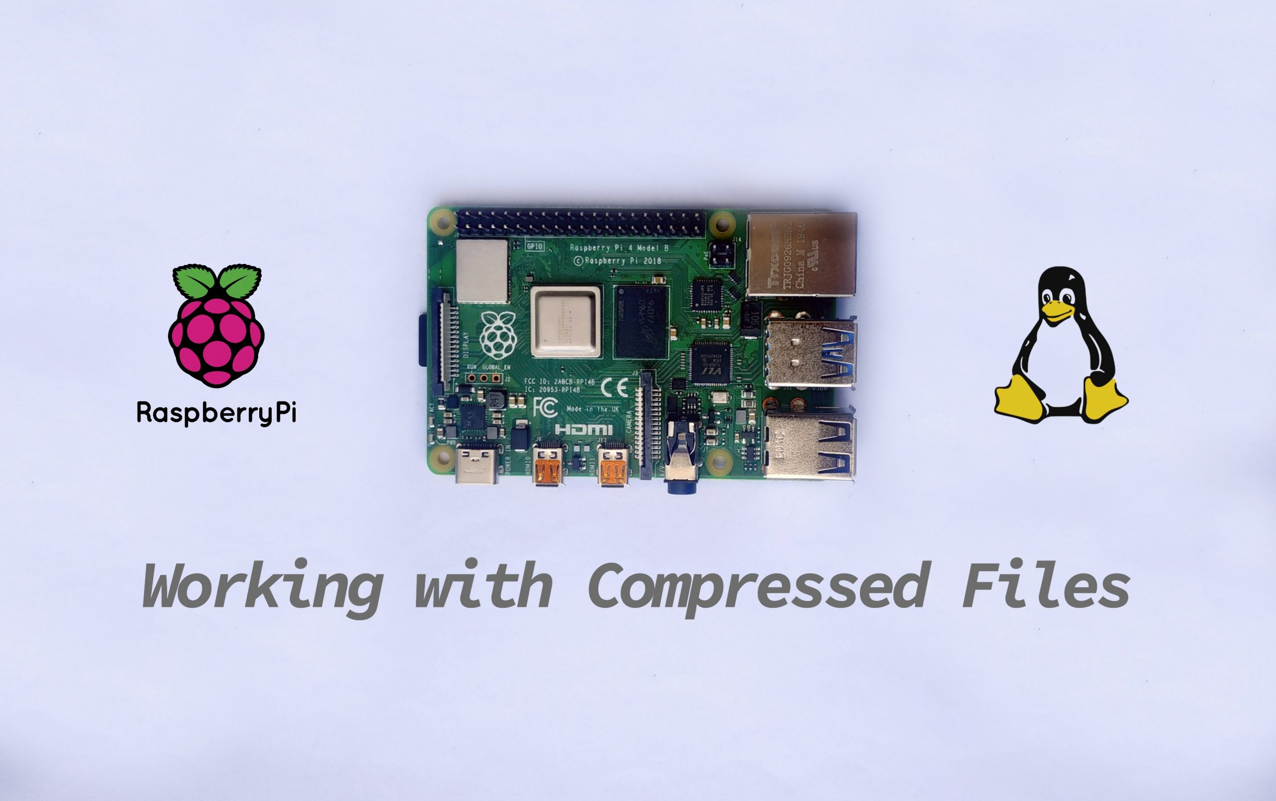 How To Compress and Un-Compress Files on a Raspberry Pi