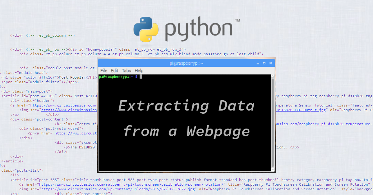 How to Extract Data From a Web Page Using Python