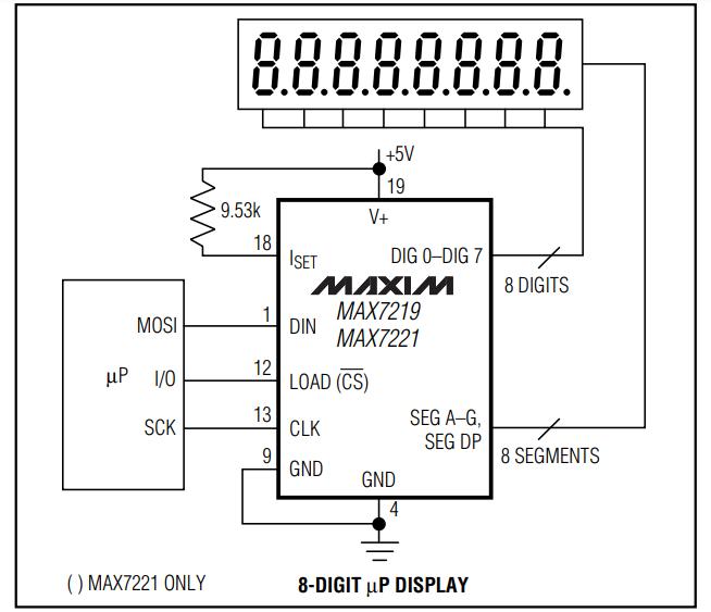 MAX7219 SCHEMATIC