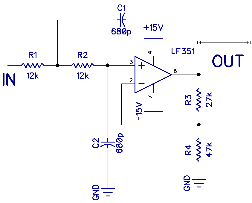 Audio Filters - Low Pass Filter Circuit